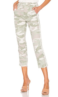 The Shaker Chop Crop Fray MOTHER $131