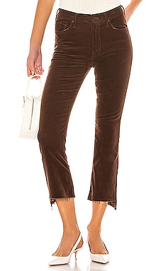PANTALÓN CINTURA ALTA THE INSIDER CROP STEP FRAY MOTHER $208