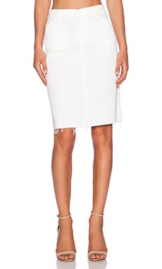 MOTHER Patchie High Waisted Skirt in Glass Slipper