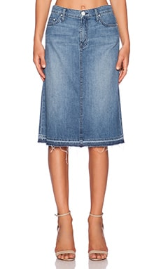 MOTHER The Dropout Skirt in Porch Swings & Picket Fences