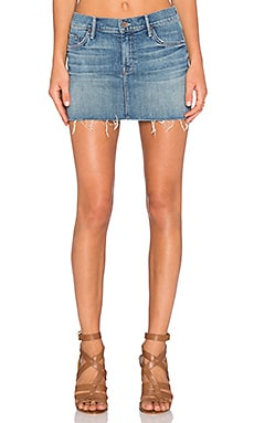 MOTHER The Straight Mini Fray Mini Skirt in Satisfaction