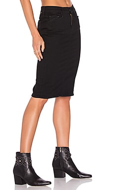 MOTHER The Peg Slit Skirt in Not Guilty