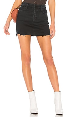 The Vagabond Mini Fray Skirt MOTHER $139