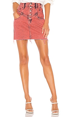 The Swooner Yoke Front A-Line Skirt MOTHER $160