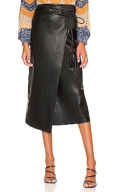 The It's-A-Wrap Faux Leather Skirt MOTHER $228