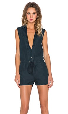 MOTHER Sleeveless Romper in Casual Friday Dark Teal