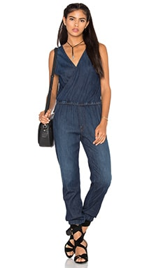V Neck Jumpsuit in Coast to Coast