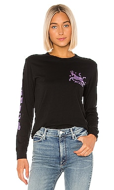 The Long Sleeve Crop Goodie Goodie Fray Tee MOTHER $138