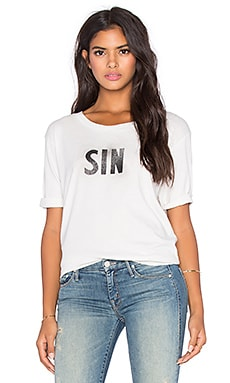 MOTHER The Oversized Goodie Goodie Tee in Sweet As Sin