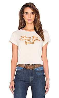 MOTHER Lovin' Goodie Goodie Crop Tee in Here to Stay