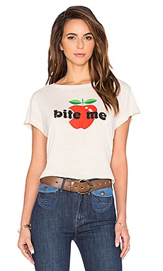 MOTHER Lovin' Goodie Goodie Crop Tee in One Bad Apple