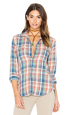 The Frenchie Frenchie Button Up en Saumon