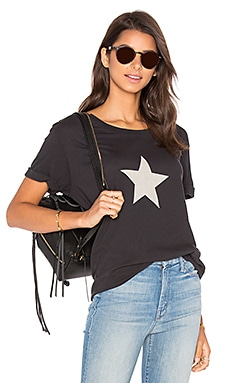 The Oversized Goodie Goodie Tee in Star Faded Black