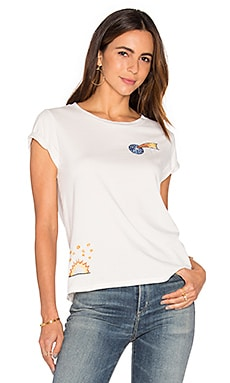 MOTHER Boxy Goodie Goodie Tee in Dirty White