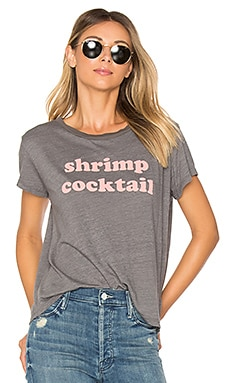 Boxy Goodie Goodie Shrimp Cocktail Tee in Heather Grey