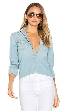 All My Ex's Crop Fray Button Down