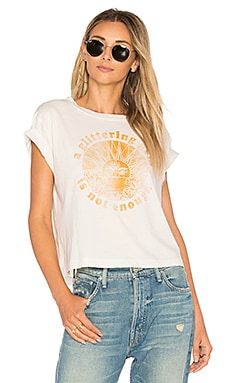 A Glittering Gem Is Not Enough Crop Tee