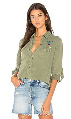 Super Trooper Crop Fray Shirt