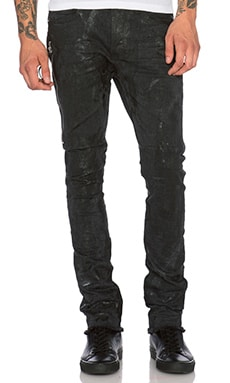 Mr. Completely Black Seam Wax Jean in Black