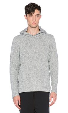 Mr. Completely Moto Sleeve Pullover Hoodie in Heather Grey