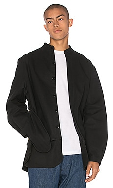 Mr. Completely Banded Collar Jacket in Black