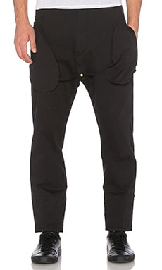Mr. Completely Exposed Pocket Trouser in Black Stretch