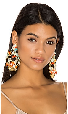 Flor Atardecer Earrings in Multi
