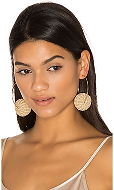 Candongas Raffia Earrings in Beige
