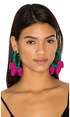 Candongas Fresas Earrings in Blue