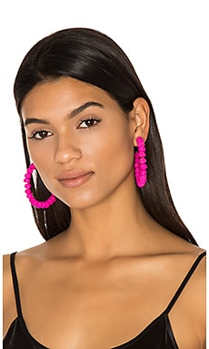 Candongas Petit Earrings en Fuchsia