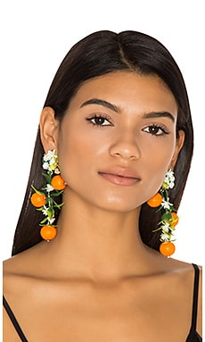 Fiesta Orange Tree Earrings in Orange