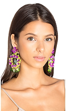 Floral Stone Earring