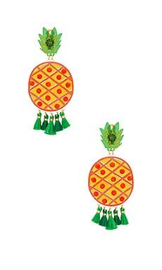 Купить Серьги fiesta pina verde - Mercedes Salazar, Колумбия, Желтый
