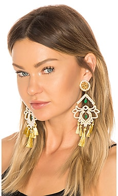 Фото - Серьги fiesta - Mercedes Salazar цвет металлический золотой