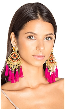 Drop Tassel Earring in Red