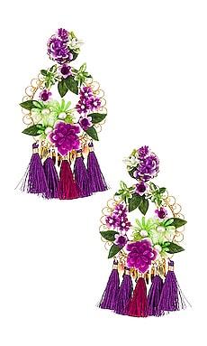 Flower Statement Earrings Mercedes Salazar $225