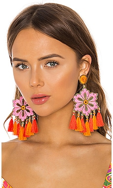 Hibiscus Rosa Earrings Mercedes Salazar $203 Collections
