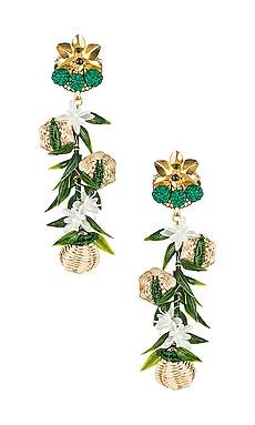 Woven Flower Earrings Mercedes Salazar $166