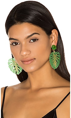 Carmen Miranda Earrings in Green