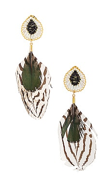 Double Feather Dangle Earring Mercedes Salazar $113