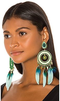 Feather Earrings Mercedes Salazar $312