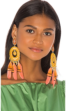 Feather Beaded Earrings Mercedes Salazar $313 Collections
