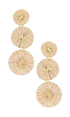 Three Golden Suns Earrings Mercedes Salazar $215