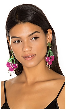 Cereza Earrings in Fuchsia