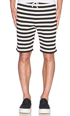 Mark McNairy New Amsterdam Drawstring Short in Navy/White
