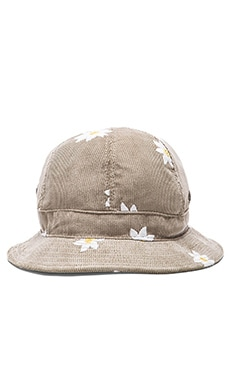 Mark McNairy New Amsterdam Bucket Hat in Slate Cord w/ Daisy