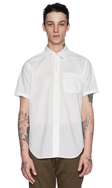 Mark McNairy New Amsterdam S/S Button Down in White