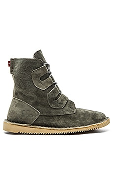 Mark McNairy New Amsterdam x Oliberte Tall Lace Boot in Grey Suede