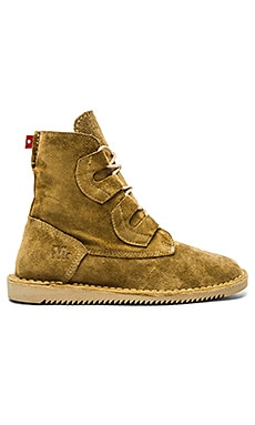Mark McNairy New Amsterdam x Oliberte Tall Lace Boot in Tan Suede