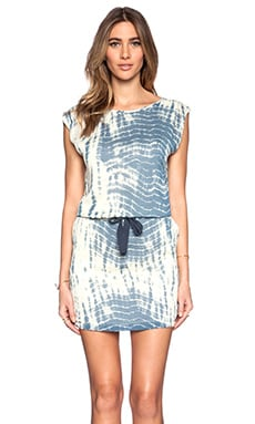 Maison Scotch Printed Summer Dress in Blue